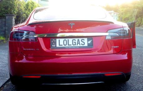 Tesla S rear