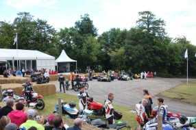 Motorbikes & F1 cars mingle